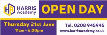 Open Day banner (Option 1)